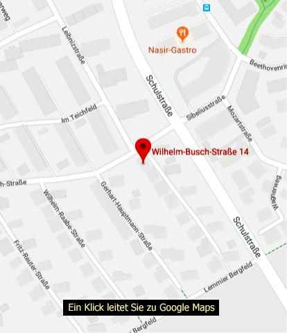 Google-Maps-Karte Wilhelm-Busch-Str. 14